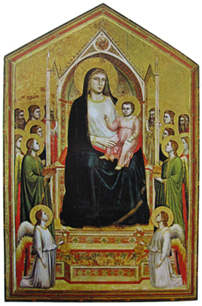 a comparison of the works madona in majesty and madonna and child enthorned with saints Compare these two works: duccio, rucellai madonna,c 1285  compare the duccio's maestà to his earlier rucellai madonna and to giotto's ognissanti madonna the image of the madonna and.